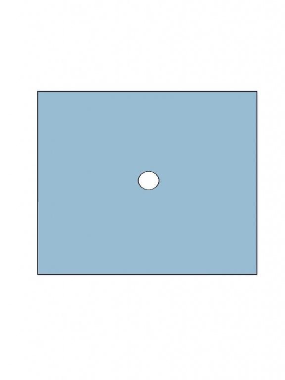 Fenestrated Drape - DM1 75x90 (7cm) :: Medica Filter s r o