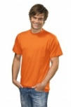 T-shirt with round neck orange S