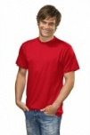 T-shirt with round neck red S