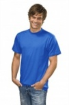 T-shirt with round neck royal blue M